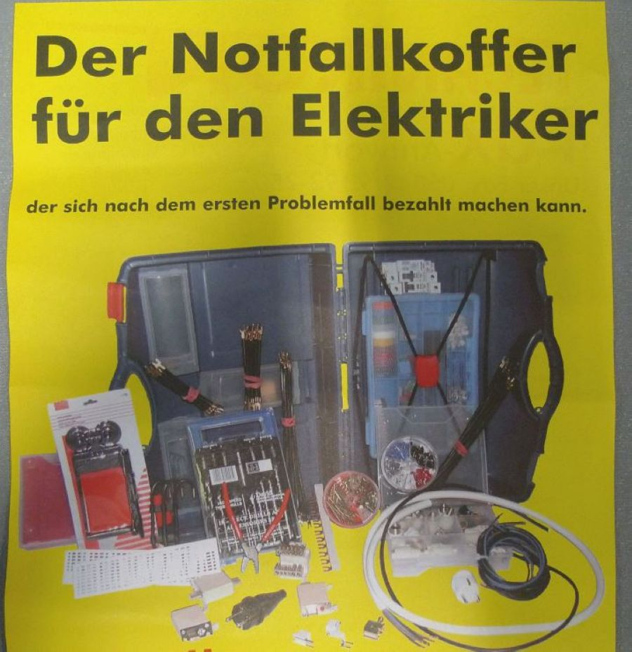 notfallkoffer f r den elektriker curver koffer mit. Black Bedroom Furniture Sets. Home Design Ideas